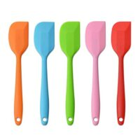 "Silicone Spatulas, 8.5"" Small Heat Resistant Non-Stick Flexible Rubber Scrapers Bakeware Tool Essential Cooking Gadget (5 Pack)"
