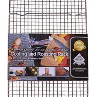 "KITCHENATICS 100% Stainless Steel Wire Cooling and Roasting Rack Fits Small Quarter Sheet Size Baking Pan, Oven Safe, Commercial Quality, Heavy Duty for Cooking, Roasting, Drying, Grilling (8.5""X12"")"