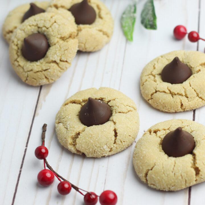 Gluten Free Peanut Butter Thumbprint Cookies