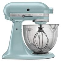 KitchenAid KSM155GBAZ 5-Qt. Artisan Design Series with Glass Bowl - Azure Blue