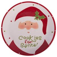 DII Ceramic Cookies for Santa Plate,