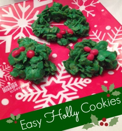 Cereal Holly Cookies