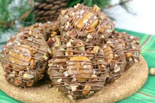 Gingerbread Turtle Cookies