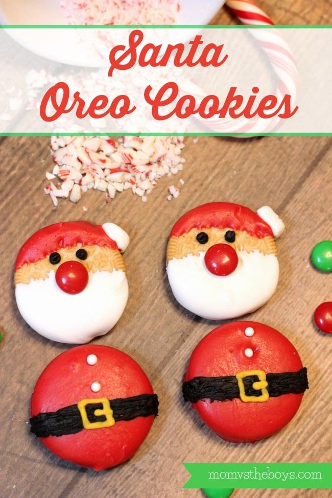 Easy Santa Oreo Cookies
