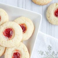Traditional Thumbprint Christmas Cookies