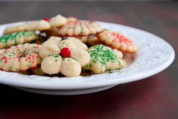 Vanilla Cardamom Spritz Cookies