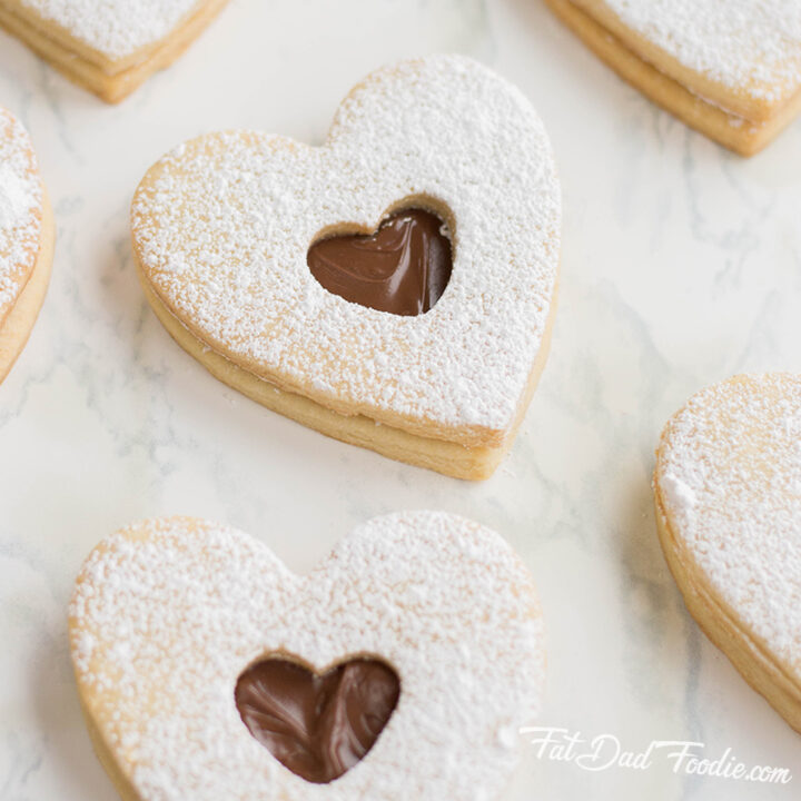 Heart Sugar Cookies with Nutella Filling