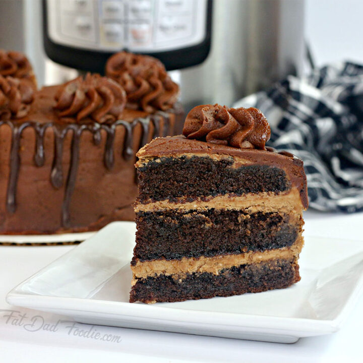 Instant Pot Layered Chocolate Cake