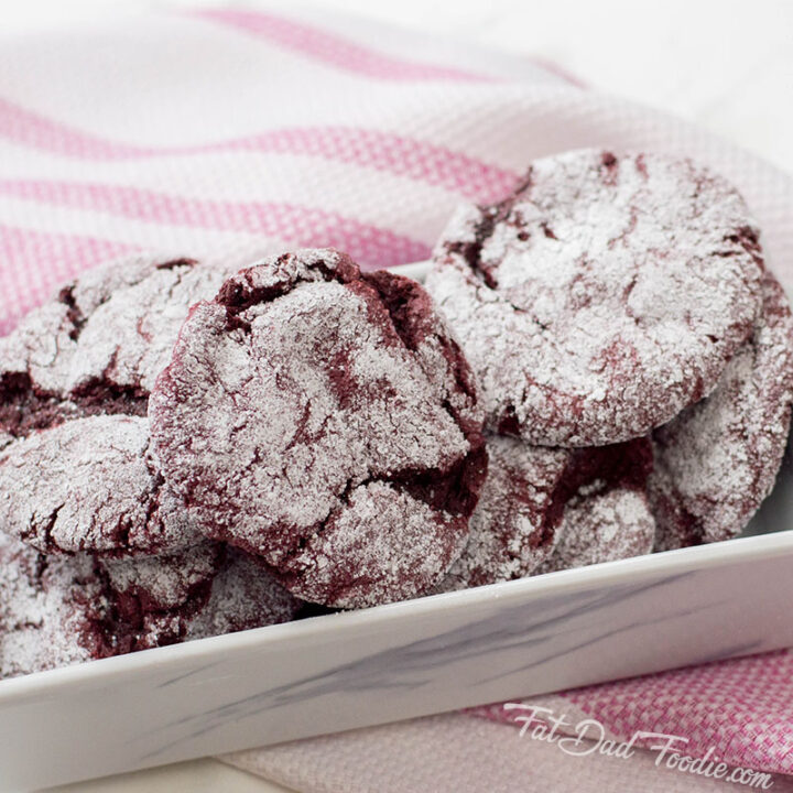 Easy Red Velvet Crinkle Cookies
