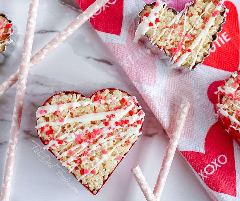 No Bake Heart Rice Krispies Treats, a host favorite at Funtastic Friday!