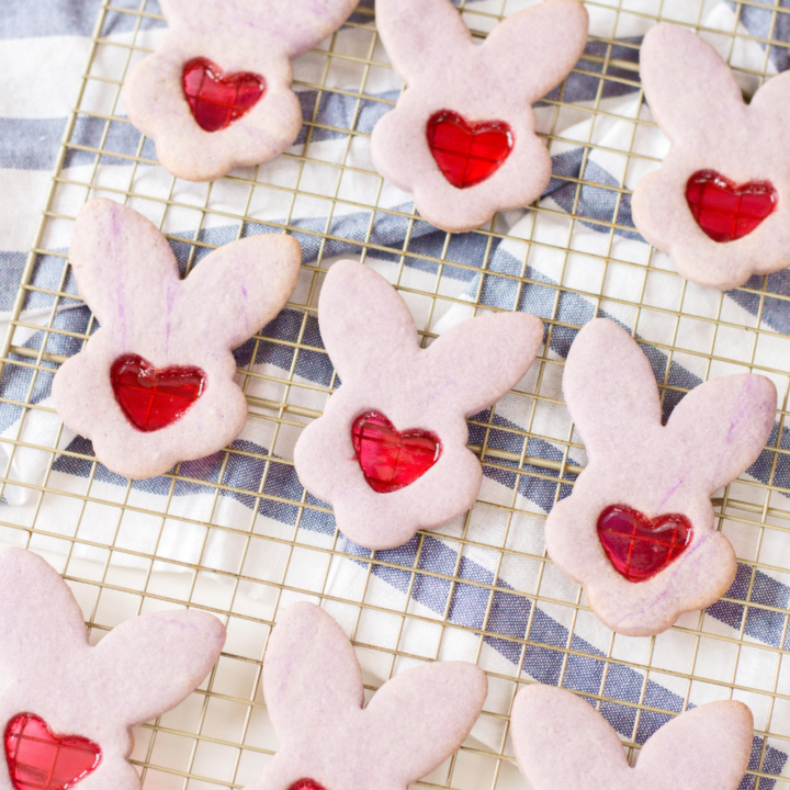 Stained Glass Bunny Cookies